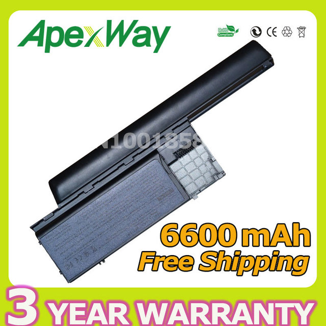 Apexway 9 клетки 6600 мАч Аккумулятор Для Dell Latitude D620 D630 D630c D631 для Precision M2300 HX345 NT379 PC764 RC126 TD116 UD088
