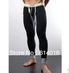 Новый 2017 мужчины штаны пижамы сна тело брюки носить одежду maleLow талией туго нижнее белье дышащий хлопок стрейч леггинсы