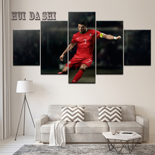 5Panel Framed Printed Cristiano Ronaldo sport wall posters Print On Canvas Art Painting For home living room decor artwork
