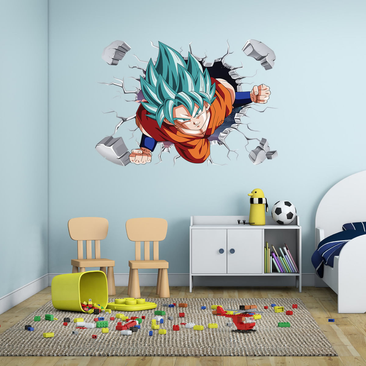 Buy 3d goku dragonball super saiyan god for Dragon ball z bedroom