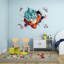Personality Attractive 3D GOKU  Wall Sticker Vinyl Art Home Bedroom Poster