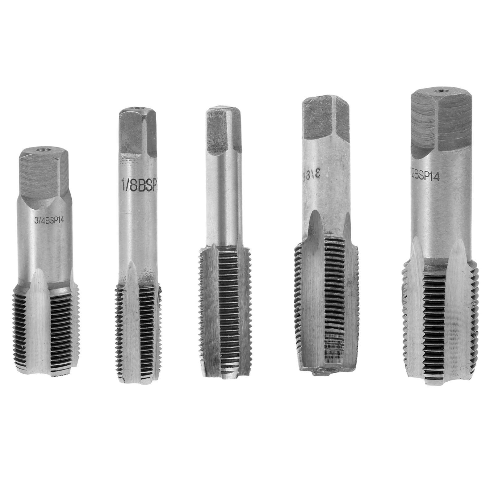 DRELD 1Pc HSS Piping Thread Tap 1/8 1/4 3/8 1/2 3/4 Inch Taper Pipe Tap BSP Metal Screw Thread Cutting Repair Hand Tools