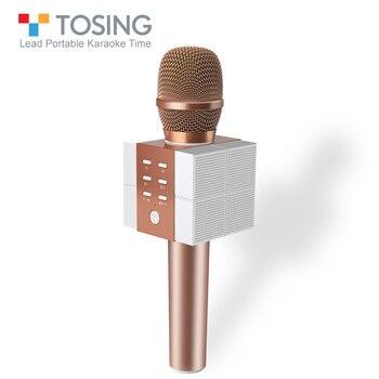 TOSING Karaoke Microfono Altoparlante Portatile cantare eliminare Ad Alto Volume Altoparlante Per La Conferenza & Outdoor con la Carta di TF e Bluetooth