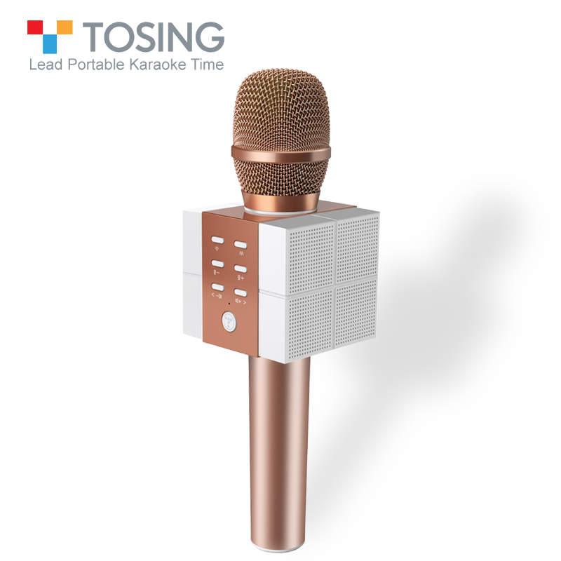 TOSING Karaoke Microphone Portable Speaker sing eliminate High Volume Speaker For Conference & Outdoor with TF Card & Bluetooth