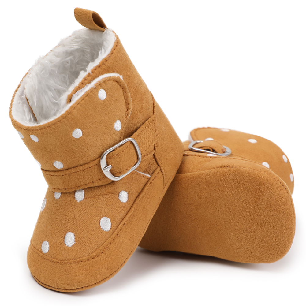 Winter Warm Fleece Leather Newborn Prewalker Shoes Baby Boy Infant Toddler Baby Boy Girl Soft Sole Crib Shoes First Walkers 2019 baby toddler shoes kids flower soft sole girl first walkers