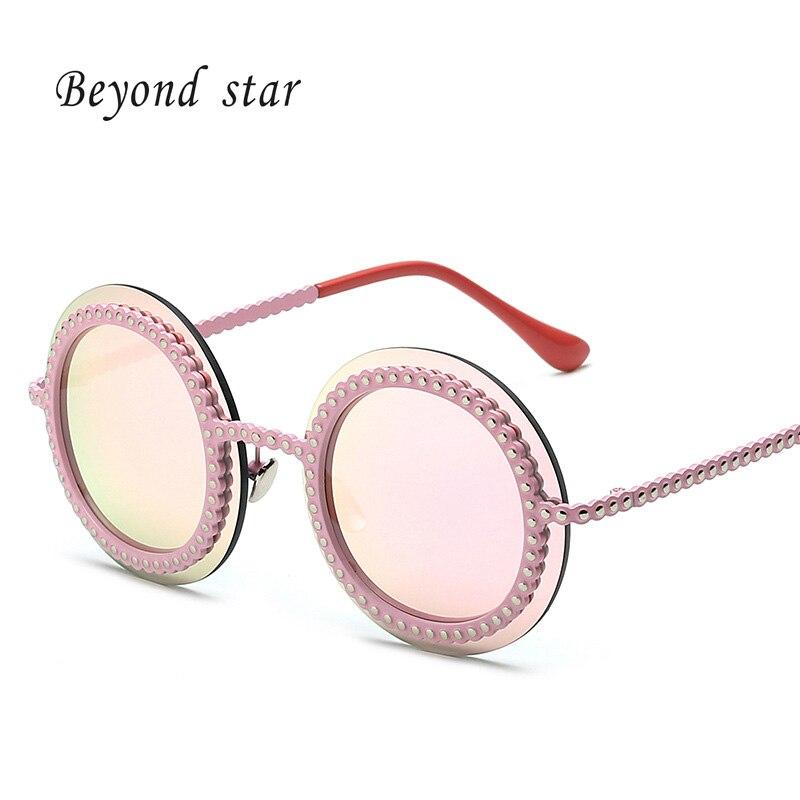 Beyond Star Women Sunglasses Round Mirror Reflective Girls Outdoor Leisure Sunglasses Women Brand Designer 86045