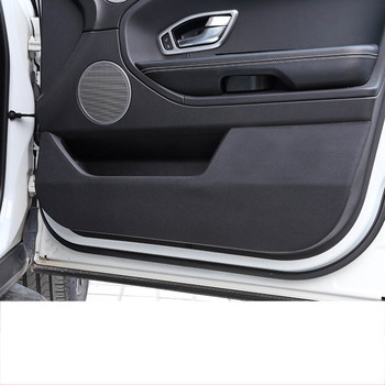lsrtw2017 fiber leather car door anti-kick mat for Range Rover sport 2014 2015 2016 2017 2018 2019 L405 L494