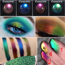 Glitter Eye Shadow Chameleon Waterproof Light Changing Eyeshadow Shimmer Bling Diamond Metallic Luminous Eye Shadow Makeup цена