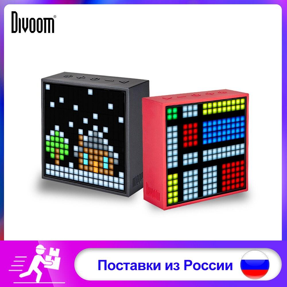 Haut-parleur portatif sans fil de Bluetooth d'art de Pixel de Divoom Timebox Evo écran LED réveil avec l'application pour le système d'android d'ios