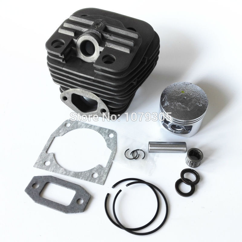 52cc Chainsaw dual channel cylinder and piston full set dia 45mm 5200 Chainsaw cylinder kit цена 2016