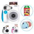 Genuine Fuji Fujifilm Instax Mini 7s Instant Camera Set with Rainbow Mini Film and Carrying Case (Should Bag)