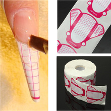 500Pcs roll Professional Nail Form Sticker UV Gel Nail Art Tip Extension Guide Tools for Salon
