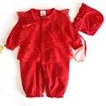 Menina romper do bebê de alta qualidade de manga longa bebe macacão macacão foraml outfit princess dress ropa de bebe bebê recém-nascido roupas