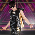 Male fashion dj ds personality slim patchwork paillette leather vest