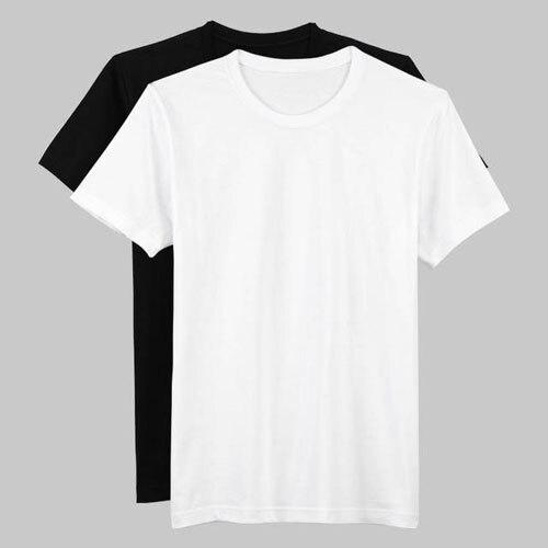 Brand Quality Summer T Shirt Men 2016 White Blank Tshirt