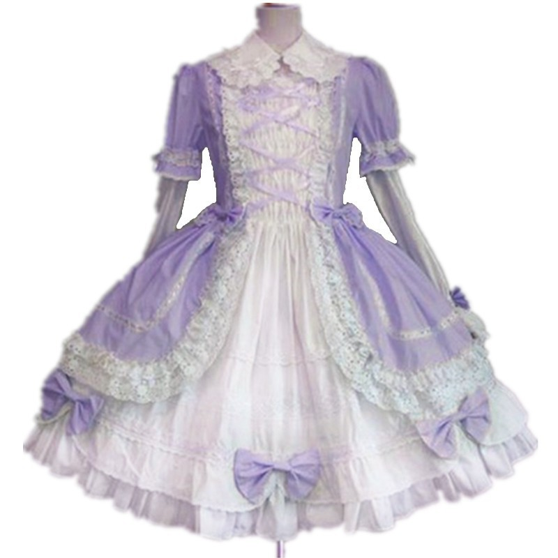 Αποκλειστικά Ειδικά Προσαρμοσμένα Παιδικά Κορίτσια Βικτοριανό Lolita Φόρεμα Παιδικά Πάρτι Γενεθλίων Δαντέλα Δαντέλα Γοτθικό Φόρεμα