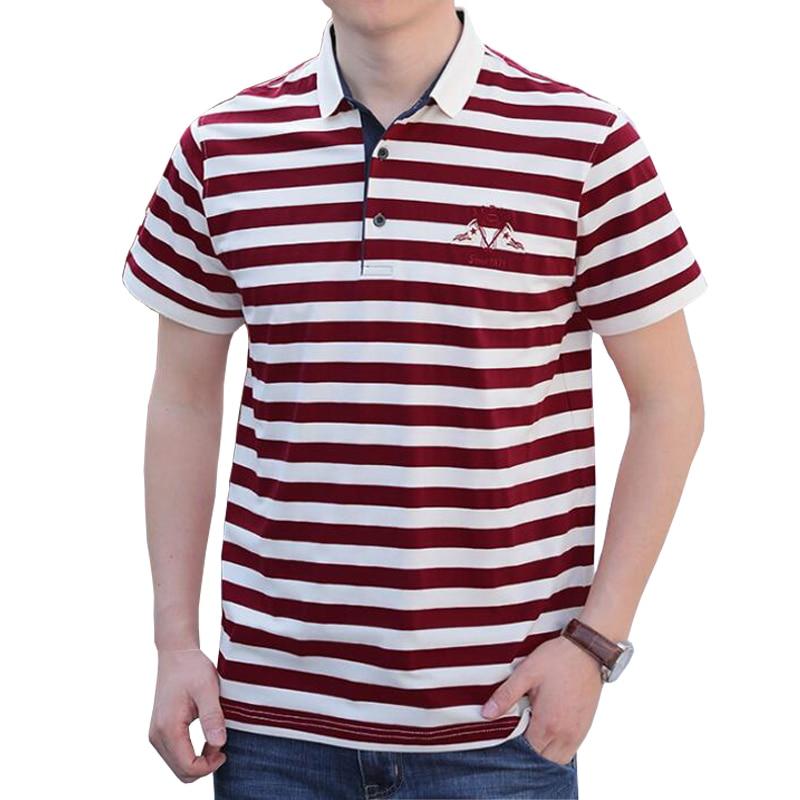 2019 summer men   polo   shirt Brand high quality shirt   polo   Business casual cotton striped solid men   polo   shirt hombre