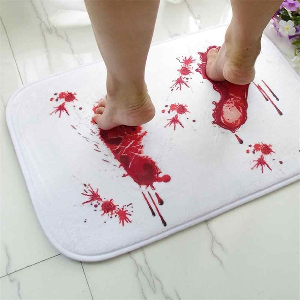Bath mat Scare Your Friends Bloody Footprint Bath Mat Non-slip Bathroom Mat Rug Bath Mats Home Kitchen Door Floor Mat Carpet