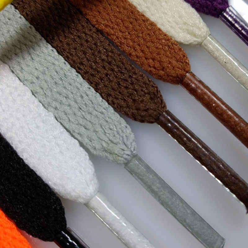 1 пара полиэстер плоские шнурки 6 цветов 110 см шнурки для кроссовок спортивная женская мужская обувь со шнуровкой