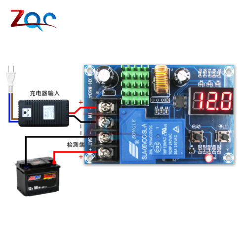 XH-M604 Battery Charger Control Module DC 6-60V Storage Lithium Battery Charging Control Switch Protection Board xh m603 li ion lithium battery charging control module battery charging control protection switch automatic on off 12 24v