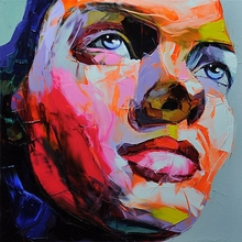 Abstract Face Painting  Impasto figure Knife Printed On canvas Wall Art Pictures For Living Room Decoration Wholesale
