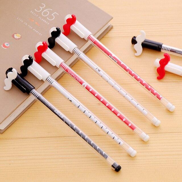Coloffice 1 Pc Creative Random Mustache Beard Plastic Gel Pen Signature Pens 0 38mm Black