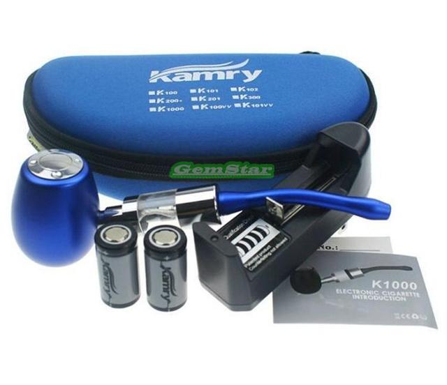 100% genuino original kamry k1000 e-pipe kit 18350 batería 900 mah atomizador 7 color e-pipa k1000 kit de envío gratis