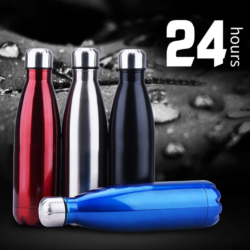 Vacuum-Thermos Flask Sport-Water-Bottle-Cola Beer Double-Wall Coffee Stainless-Steel