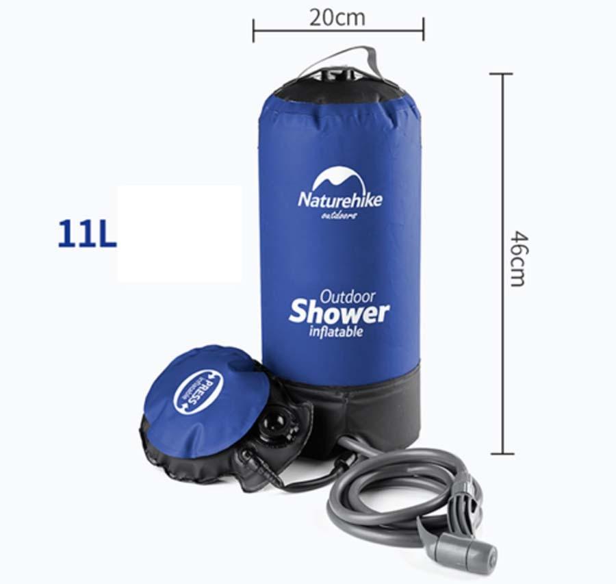 11L Portable gonflable en plein air douche sac de bain pliant baril seau Camping randonnée sac d'eau stockage