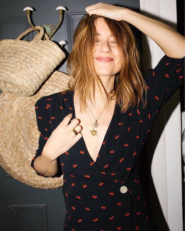 Kobiety wiosna i lato sukienka długi Style Cherry drukowanie francuski herbata przerwa szata Femme odzież marki dla kobiet w Suknie od Odzież damska na AliExpress - 11.11_Double 11Singles' Day 1