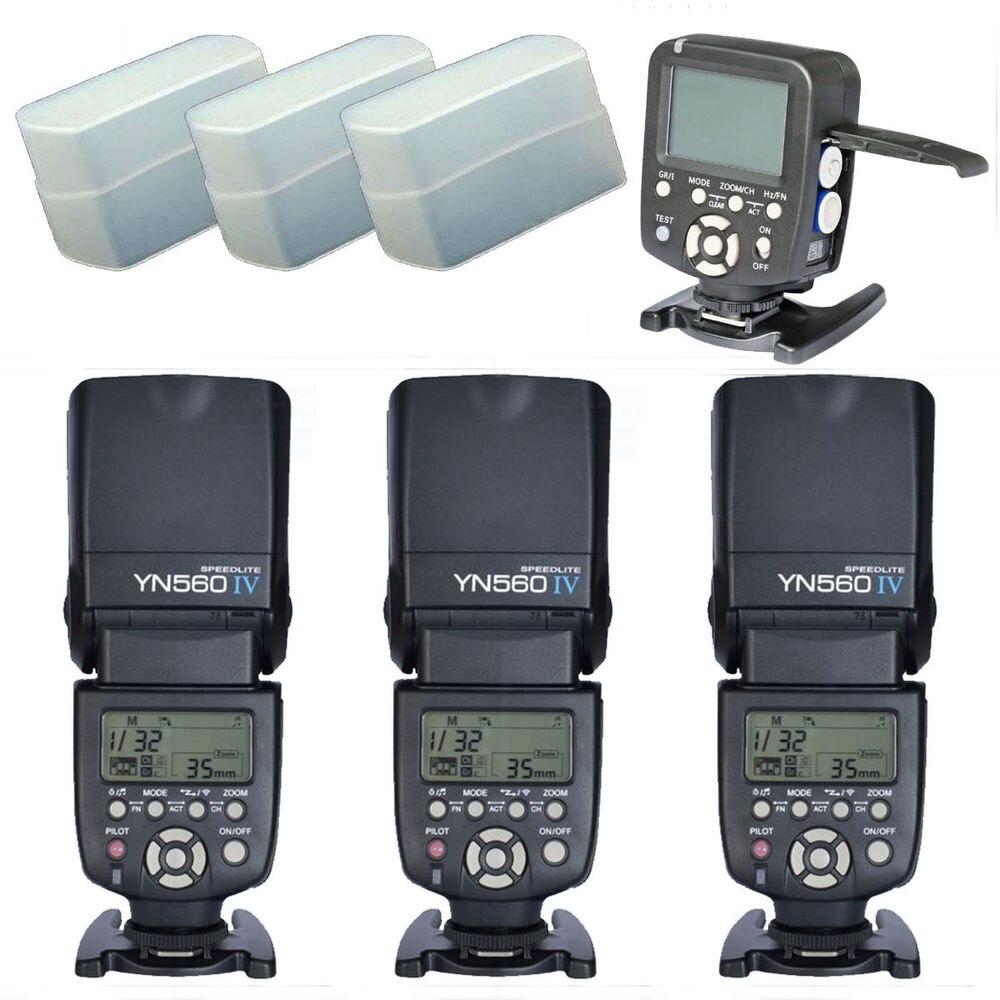 Yongnuo YN560TX LCD Wireless Flash Controller+ 3Pcs YN560 IV Flash kit For Nikon yongnuo yn560tx lcd wireless flash controller 3pcs yn560 iv flash kit for nikon