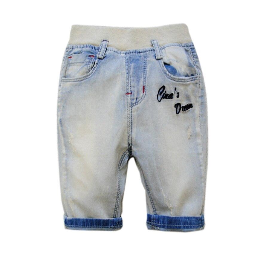 5968 Шорты для младенцев мягкие джинсы шорты для маленьких мальчиков штаны для мальчиков Дети Лето Мальчик Прохладный 2017 теленок-длина 70% Дли...