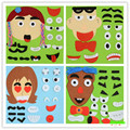 DIY Non-woven Fabrics Facial Expression Material Package Parent and Child Interaction Manual Activity Operation Toys Game