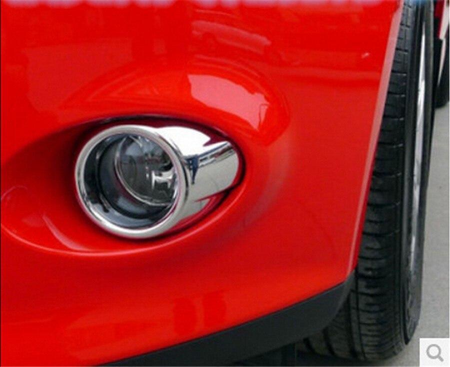 Пара 2 шт. Передняя противотуманная фара декоративная крышка для 2012 Ford Fox Гальваническая серебряная яркая передняя противотуманная фара рамка