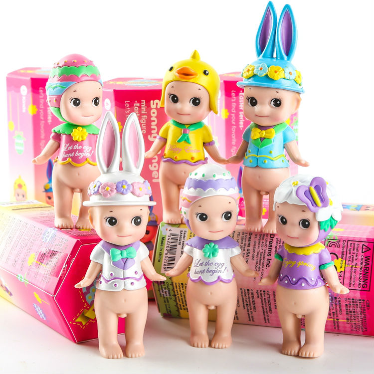 Sonny Angel Mini Figures Easter Series 6pcs/set Toys Christmas & Brithday Gift PVC Action Figure Collectible Model Toy 8cmKT3113 2017 new 1 6 1 6 12 action figures g43 sinper rifle tactical gun christmas gift free shipping boy toy birthday present