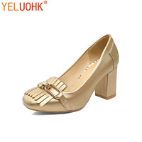 35 43 Plus Size Ladies Shoes Heel Women Pumps High Quality Leather High Heel Shoes Women