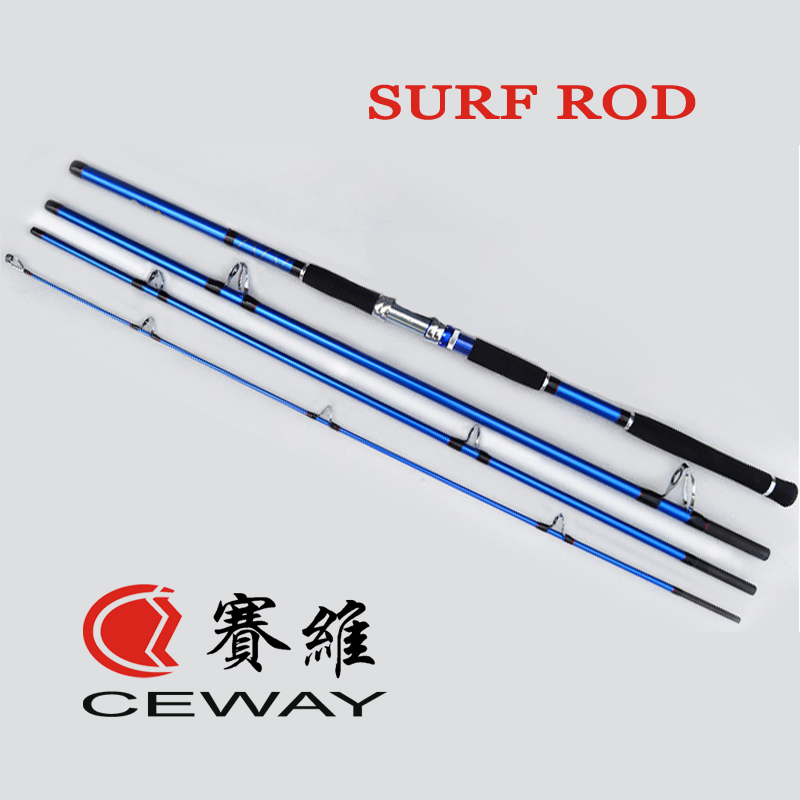 Carbon Surf Fishing Rod Carbon Fiber Long Casting Boat Rods Hard Jig Fish Pole Powerful Ocean Jigging Poles 4 Sections 3.9m 4.2m goture bait casting fishing rod pike rods 2 1m 2 4m m power 2 sections carbon fiber fishing pole lure rods