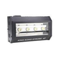 Freies verschiffen Kingkong 4*25 W RGB LED strobe bühne effekt beleuchtung für dj disco dmx control wash licht arbeit mit moving head-in Bühnen-Lichteffekt aus Licht & Beleuchtung bei