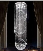 Люстры хрустальные бусины Спираль Кристалл сферическая люстра Современные хрустальные люстры осветительное оборудование длинные K9 крист