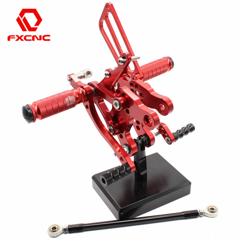 FXCNC Adjustable Motorcycle Rearsets Rear Sets Foot Pegs Pedal Footrest For HONDA CBR919RR SC33 CBR 919 RR 1996 1997 1998 1999