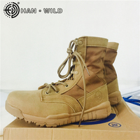 2018 New Men Ultralight Army Boots Military Tactical Combat Boots Desert Botas Hiking Autumn Shoes High Boots Male Ankle Boot