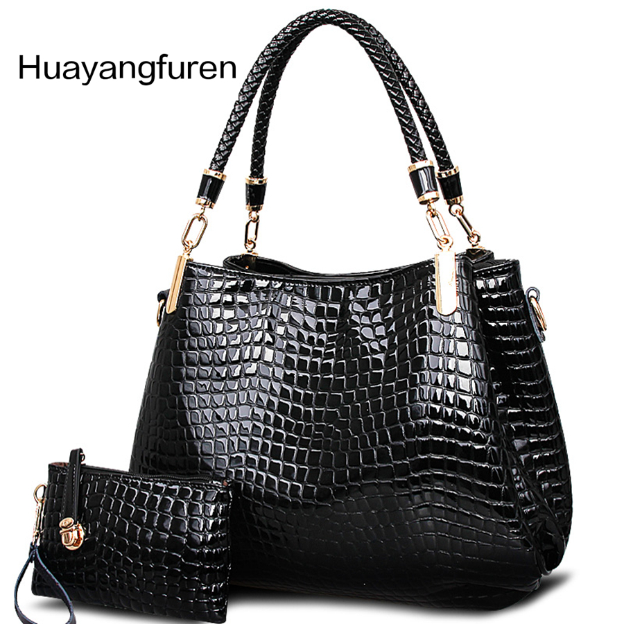 Women bag 2017 Crocodile pu leather bags handbags women famous brands women leather handbags women shoulder bag tote bag Q3 classic black leather tote handbags embossed pu leather women bags shoulder handbags elegant