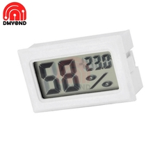 Mini LCD Digital Thermometer Hygrometer Temperature White Indoor Convenient Temperature Sensor Humidity Meter Gauge Instruments