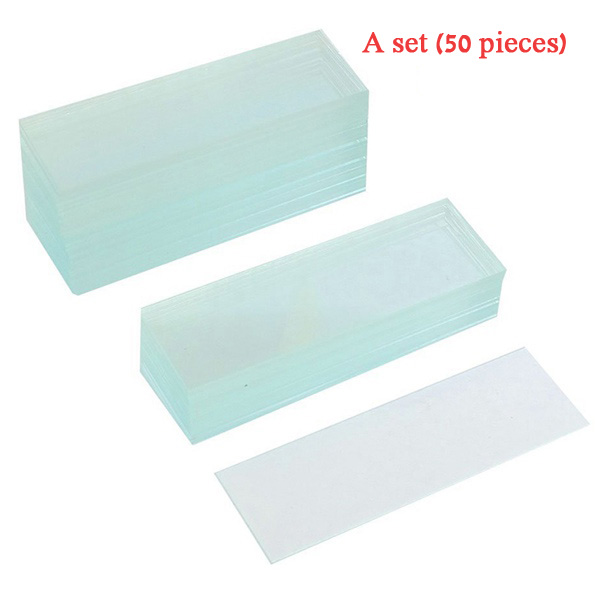 New Style 50 Pcs Pre-cleaned Microscope Blank Glass Slides 1x3 inch