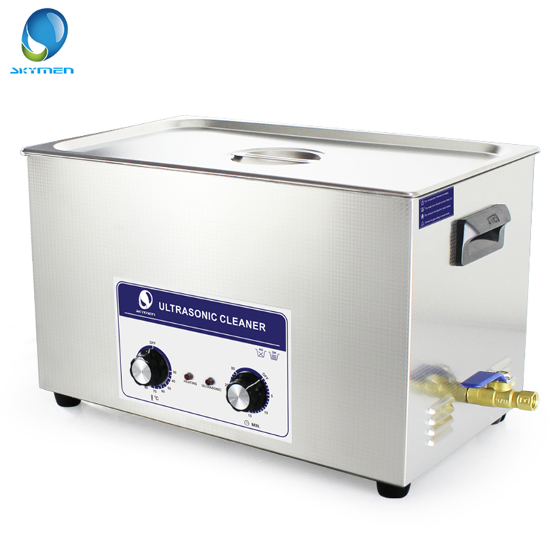 skymen stainless steel bath 22l 480w 40khz ultrasonic cleaner 110 220v cleaner for circuit board printing dyeing instrument SKYMEN Knob Type Ultrasonic Cleaner Bath 30L 600W 40kHz 110/220V for Laboratory Medical Hardware parts Optical glass Auto parts
