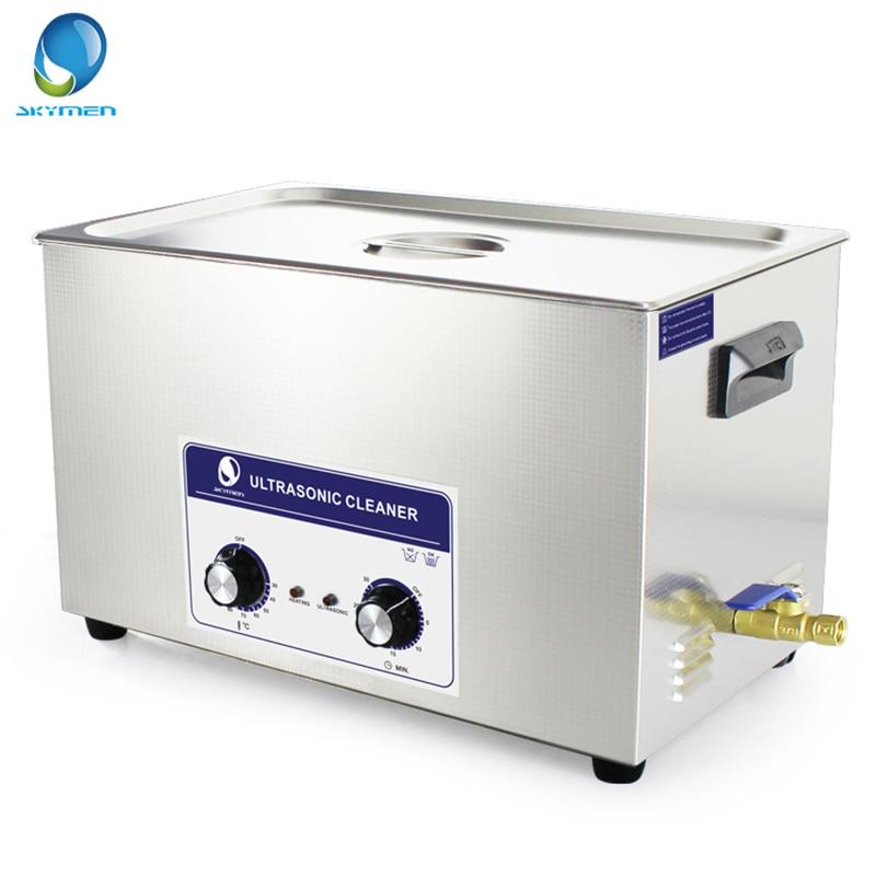 SKYMEN Knob Type Ultrasonic Cleaner Bath 30L 600W 40kHz 110 220V for Laboratory Medical Hardware parts