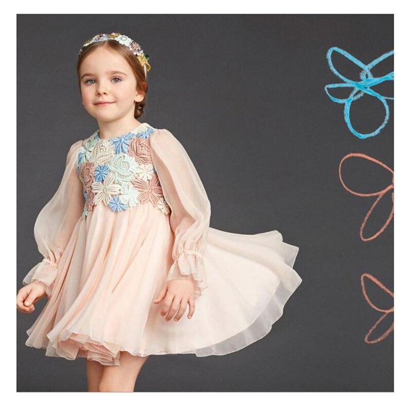 Fashion Spring Baby Girl Costume Brand High Quality Princess Dress Girl Wedding Nova Kids Girl Birthday Spring Robe Enfant baby girl birthday princess dress spring