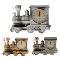 Train Engine Style Locomotive Alarm Clock Novelty Home Office Decor Gift