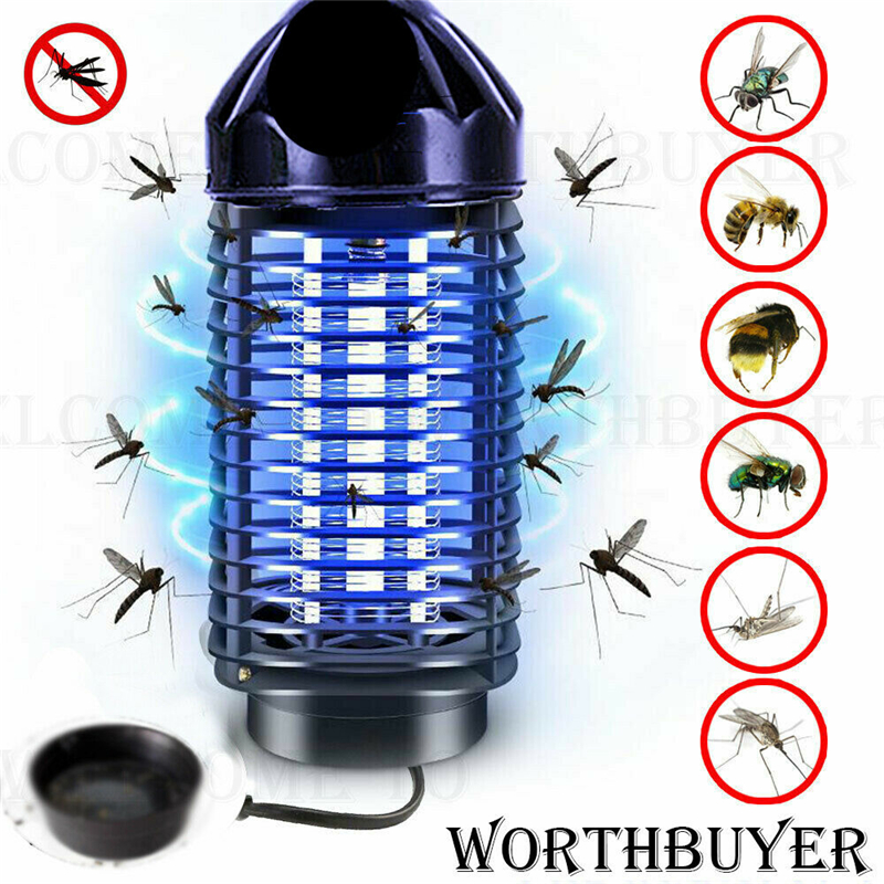 Electric UV Mosquito Killer Lamp Outdoor Indoor Fly Bug Insect Zapper Trap EU/US 10000h For Living Room(China)