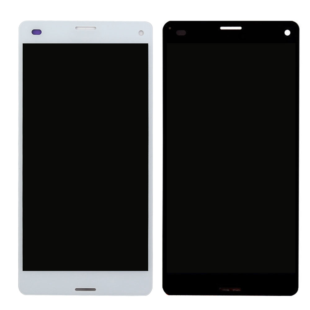 Original Screen For Sony Xperia Z3 Compact Lcd Touch Display D5803 D5833 Mini Black Digitizer Frame Replacement In Mobile Phone Lcds From